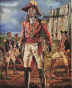 Haitian Heroe of Independance Jean Jacques Dessalines. Leader, Emperor of the First Black Republic of Haiti. He lead the fight against the french colonist Napoleon troops towards the abolishment of slavery on the Island of Hispaniola, present day Haiti.  Artist Kervin Andre - AkomicsArt