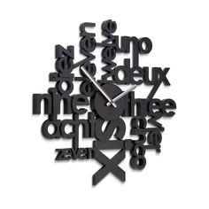 Umbra 118990-040 Lingua Wall Clock, schwarz: Amazon.de: Küche & Haushalt