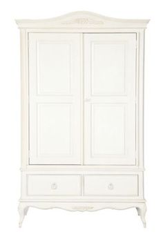 """Primrose"" double wardrobe in white with vintage style by Shabby Chic from Rachel Ashwell."