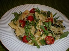 Vegan Recipe - Farfalle with Vegan Brown Butter, Arugula & Pine N...