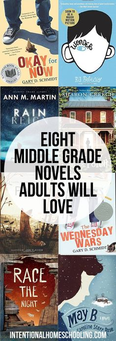 Eight Middle Grade Novels that Adults Will Love as well.