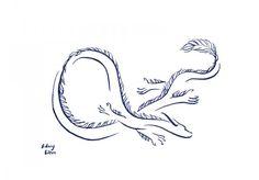 Title: Minimalist Oriental Dragon 2, Artist: Sidney Eileen