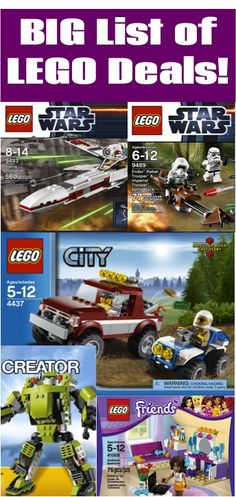 BIG List of LEGO Deals! {stash away some fun gifts!}