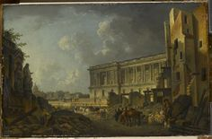 Pierre-Antoine Demachy | L'hôtel de la Monnaie et le Louvre, vus du pont Neuf…