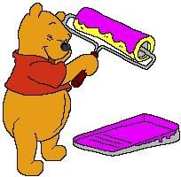 I just knew Pooh would love purple!!