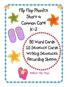 This Short a Phonics Activity provides excellent practice in Common Core Essential Skills for K-2. Activity set includes 50 short a word cards, 10 sentence cards with a missing word (short a), numbered recording sheets to write completed sentences, directions page for teacher, and direction cards for students. $2.00