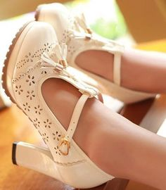 wedding shoes thick heel