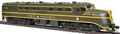 Walthers #910-9102 Alco DL109 - New Haven New Haven #0708  * Prototypes in Service 1940 thru 1950s * Heavy Die Cast Chassis * Factory-Installed 8-Pin DCC Harness * 14:1 Gear Ratio * Helical-Cut Gears for Quiet Operation & Easy Multiple Unit Operation  * Five-Pole Skew-Wound Motor * All-Wheel Drive & Electrical Pickup * Dual Machined Brass Flywheels * RP-25 Metal Wheels * Constant & Directional Lights * Proto MAX Metal Knuckle Couplers
