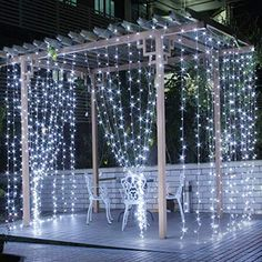 CITRA 240 LED 9.8Feet Curtain Lights Icicle Lights Fairy String Lights with 8 Modes for Wedding Party Family Patio La...