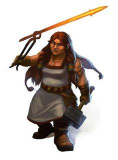 d&d dwarf female - Google Search