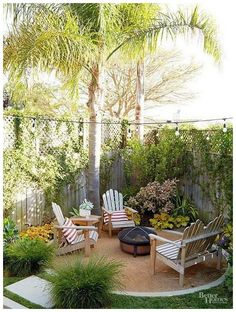 Small backyard patio diy plants 44 Ideas for 2019 Small Outdoor Patios, Backyard Ideas For Small Yards, Small Backyard Design, Backyard Patio Designs, Small Backyard Landscaping, Backyard Fences, Fire Pit Backyard, Diy Patio, Small Patio
