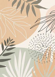 Iphone Background Wallpaper, Pastel Wallpaper, Aesthetic Iphone Wallpaper, Aesthetic Wallpapers, Phone Wallpaper Boho, Ipad Background, Leaves Wallpaper, Images Murales, Minimalist Wallpaper