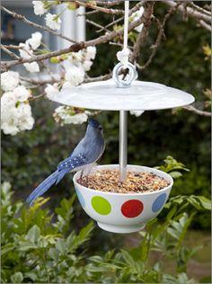 Create this wonderful bird feeder and watch the local birds enjoy your latest creation