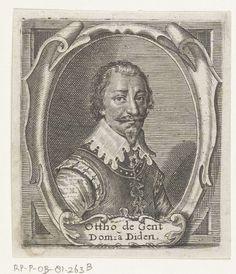 Crispijn van de Passe (II), Portrait of Otto van Gent, heer van Dieden, 1632 - Rijksmuseum Amsterdam