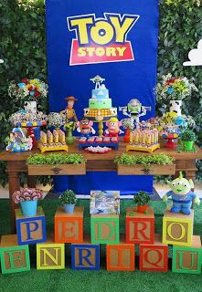 ideas for birthday decorations party toy story Woody Birthday, Toy Story Birthday, Boy Birthday Parties, Birthday Ideas, 4th Birthday, Husband Birthday, Toy Story Baby, Toy Story Theme, Toy Story Decorations