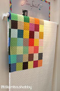 Solid blocks quilt