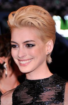 Want Anne Hathaway's hair! Next haircut maybe? Too outrageous? Met Gala 2013: Best/Worst Beauty