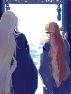 The Twelve Kingdoms Youko and Keiki fanart