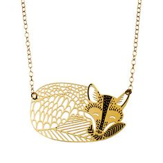 Polli's KOHL GOLD MRS FOX NECKLACE