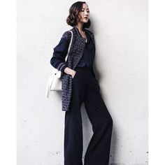 #inscopy# share photo, ins: chrisellelim Save Instagram Photos, Instagram Posts, Wide Leg Pants, Style Inspiration, Day, Youtube, Outfits, Wide Leg Trousers, Suits