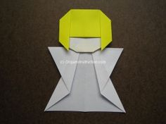 Origami Little Angle Step by Step tutorial                                                                                                                                                     More