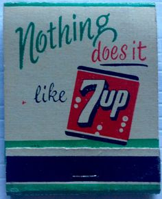 7up #frontstriker #matchbook - To design & order your business' own logo #matches GoTo: GetMatches.com #phillumeny