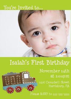 Construction Birthday Invitation -- 5x7 Printable Digital File. $15.00, via Etsy.