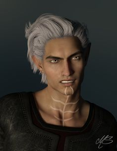 "kakaphoe: ""its-anita: "" Fenris DA2 by Malika97 Dunno if I shared this before but it is never too much of him"