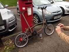 Twitter / bencooper: A popular bike ;-) Rohloff ...fancy pants Raw + gold wheels