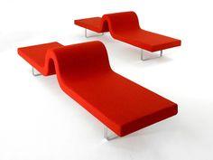 Banc rembourré HIGHWAY A by Segis design Bartoli Design