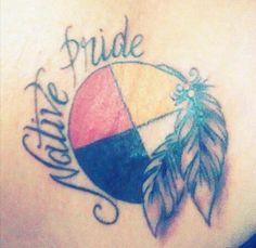 d2a31d81f99c5 My Medicine wheel tattoo (: Yes i am Native American&Proud! Artist:Matt  Person who got the Tattoo: Alea Runningbear