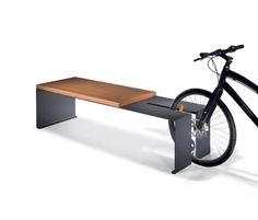 Bike rack plus bench - wheel bender but looks nice Urban Furniture, Street Furniture, Metal Furniture, Cheap Furniture, Discount Furniture, Furniture Plans, Furniture Design, Furniture Outlet, Furniture Nyc