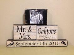 Personalized wedding gift last name establish sign by FayesAttic11