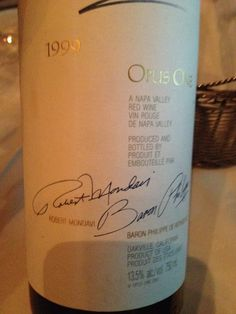 Opus One 1999 - Incroyable !