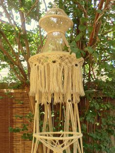 VINTAGE Macrame Plant Hanger ART Huge Hanging by BabylonSisters