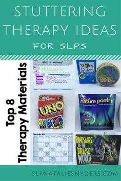 Top 8 SLP materials for stuttering therapy for older elementary and middle school students!