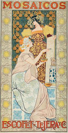 Alexandre de Riquer - Mosaicos Escofet-Tejera y Cía, 1900