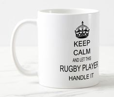 Shop Keep Calm Rugby Mug created by TheRugbyStore. Rugby Sport, Vintage Comic Books, Mugs For Sale, Rugby Players, Coffee Gifts, Mug Designs, Keep Calm, Beverage, Microwave