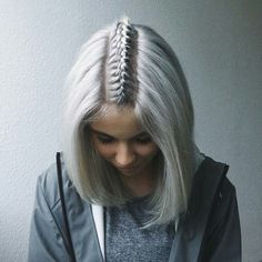 hair, melina sophie, and grey image (Pastel Hair Grunge)