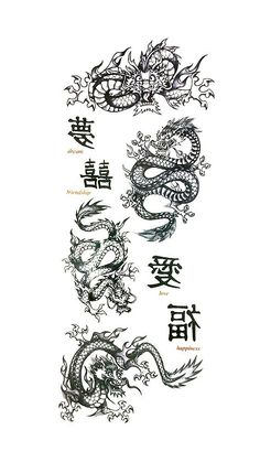 Amazon.com: Deluxe Dragon Collection Temporary Tattoos #85: Health & Personal Care