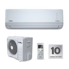 NOBU NBO-12IDU/12ODU 410 ΚΛΙΜΑΤΙΣΤΙΚΑ ΤΟΙΧΟΥ - saveit.gr - Ρυθμίστε το κλιματιστικό σας εύκολα απ? όπου και αν βρίσκεστε, μέσω του Smartphone ή του Tablet σας εξοικονομώντας ενέργεια και δημιουργώντας το περιβάλλον που εσείς θέλετε, την ώρα που το θέλετε. Τα ιόντα που απελευθερώνονται προσδίδουν καθαρό και φρέσκο αέρα απόρροφώντας τη σκόνη και τον καπνό και προσφέρονταις υγιεινή και ευχάριστη ατμόσφαιρα. Το Φίλτρο Τριπλής Δράσης με Vitamin C, Cold Catalyst και Silver Ion Filter φροντίζει για… Conditioner, Home Appliances, House Appliances, Appliances