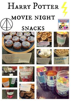 Looking for Harry Potter movie night snacks? We've got all you need - - Trying to plan a Harry Potter unit? Need snacks? Then this is your one stop shop with this Harry Potter unit. Harry Potter Weekend, Harry Potter Snacks, Harry Potter Marathon, Harry Potter Halloween, Harry Potter Theme, Harry Potter Birthday, Harry Potter Diy, Harry Potter Movies, Harry Potter Recipes