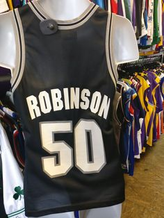 Now available in our store Vintage #50 DAVID...  Check it out here!!  http://xl3vintageclothing.net/products/vintage-50-david-robinson-san-antonio-spurs-nba-champion-jersey36?utm_campaign=social_autopilot&utm_source=pin&utm_medium=pin