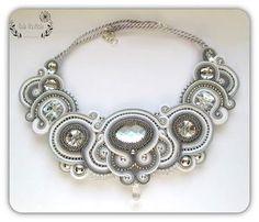 #soutache #sutasz #necklace #wedding #bride #style #biz #jewellery #white #fashion #accessories #naszyjnik #kolia #colia