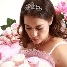 Admiring my cupcakes!