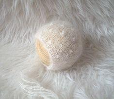 Newborn Bonnet Pattern Mohair Bonnet Pattern Knit by 3PLittleKnits
