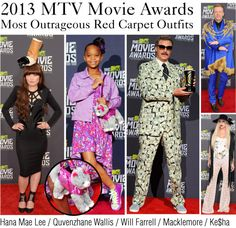 """2013 MTV Movie Awards: Most Outrageous Outfits"" by polyvore-editorial ❤ liked on Polyvore"
