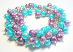 Elegance and Flair  - in Teal or Aquamarine by Isobel Morrell on Etsy
