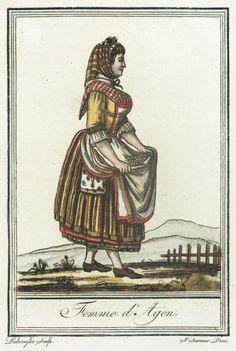 Costumes de Différent Pays, 'Femme d'Agen' Jacques Grasset de Saint-Sauveur (France, 1757-1810) Labrousse (France, Bordeaux, active late 18th century) France, circa 1797