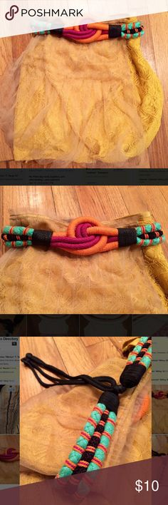 """Vintage Braided Rope Belt Awesome vintage braided rope belt! Looks great worn over black for the perfect pop of color or with anything that needs a little """"pick-me-up""""- this is it! Meant to wear higher on the waist (above the hips). Accessories Belts"""